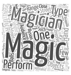 How did they do that types of magic tricks text vector