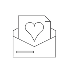 Isolated heart inside envelope design vector image vector image