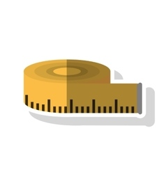 Isolated meter tape design vector image
