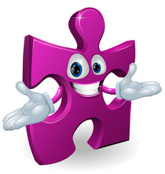 jigsaw character vector image vector image