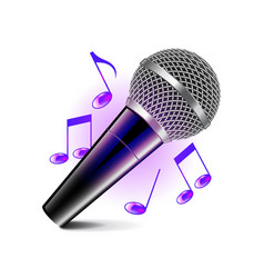 Karaoke icon isolated on white vector