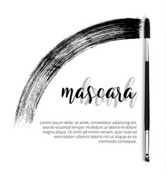 make-up cosmetic mascara brush design vector image vector image