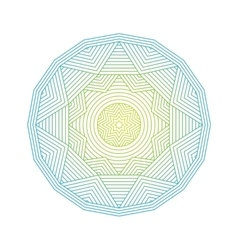 Mandala Color lineart geometric ornamental vector image