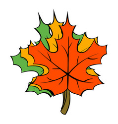 Maple leaves icon cartoon vector