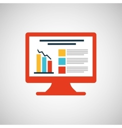 Monitor computer infographic icon graphic vector