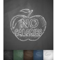 NO CALORIES icon Hand drawn vector image vector image