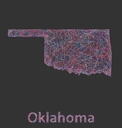 Oklahoma line art map vector image