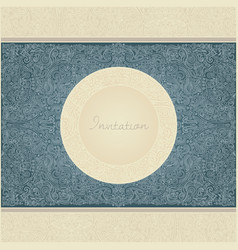 Paisley invitation card vector
