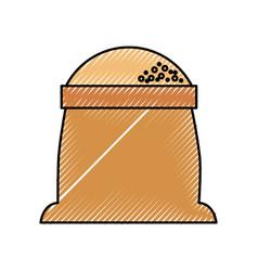 Sack of flour grain ingredient bakery icon vector