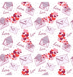 Love letter valentine seamless texture vector