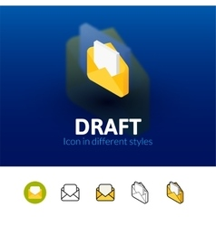 Draft icon in different style vector
