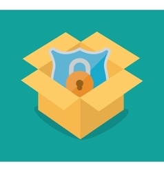 internet security shield protection vector image