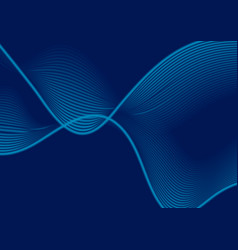 Dark blue abstract wavy lines background vector
