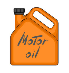 Can of engine oilcar single icon in cartoon style vector