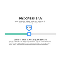 Progress bar infographic element vector