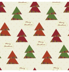 vintage Christmas seamless with Christmas Trees vector image