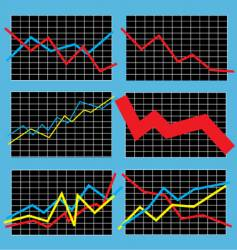 Business chart vector