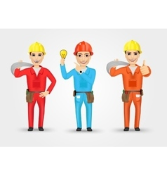Electrician or mechanic in poses vector
