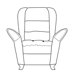 Armchair part of interior vector