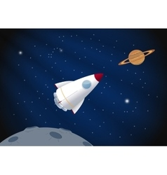 Toy rocket background vector