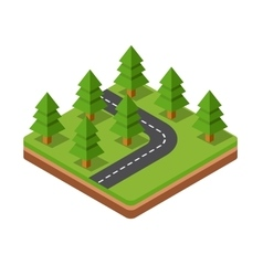 Isometric trees on road vector