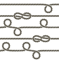 Navy rope with marine knots seamless vector image