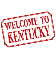 Kentucky - welcome red vintage isolated label vector