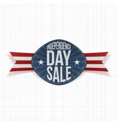 Independence day sale scratched label vector
