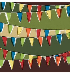Party bunting background vector