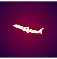 Plane icon flat design style vector