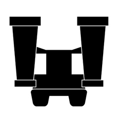 Big binoculars icon vector