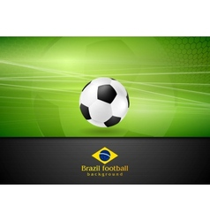 Abstract football background with soccer ball vector image
