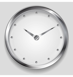 Abstract metallic clock design vector