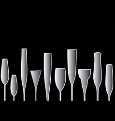 background black bottle vector image vector image