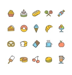 Bakery Icon Set Color vector image vector image