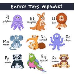 Cartoon animals alphabet vector