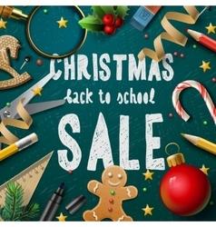 Christmas fair poster vector