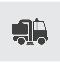 Cleaning machine icon vector