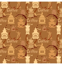 coffee circles seamless 2 380 vector image vector image