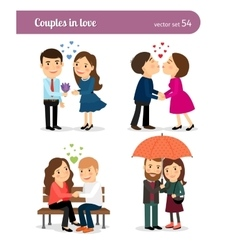 Couple in love First date vector image vector image