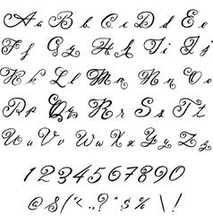 Elegant black font vintage letters vector