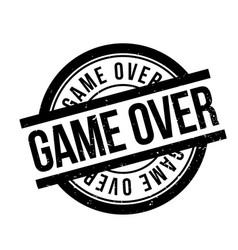 Game over rubber stamp vector