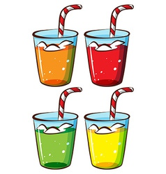 Glasses with juice vector image