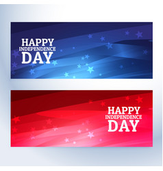 Happy independence day banners vector