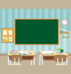 in front of empty classroom vector image vector image