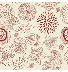 Seamless floral pattern with a blossoming branch vector image