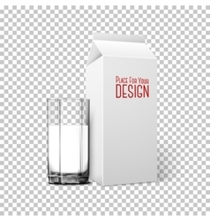 Transparent realistic glass paper box vector image
