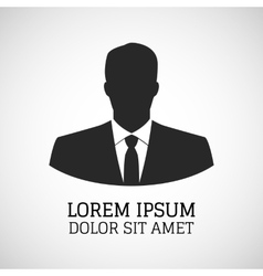User icon of man in business suit vector