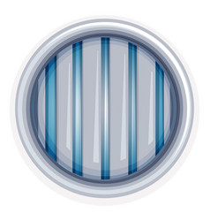 white round window with metal bars vector image vector image