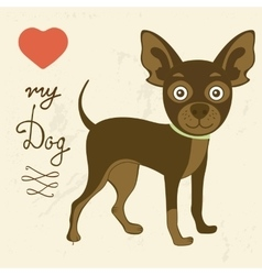 Love my dog toy terrier vector